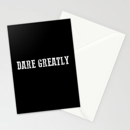 Dare Greatly Man In The Arena Quote, Teddy Roosevelt Inspirational Quote Stationery Cards