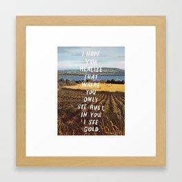 gold haiku Framed Art Print