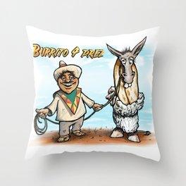 Burrito 4 Prez Throw Pillow