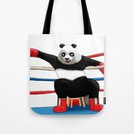 Boxing Panda Tote Bag