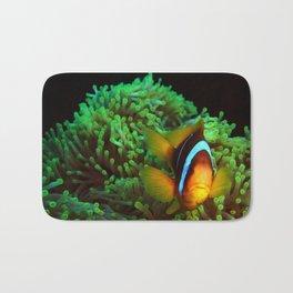 Anemone Fish in Green Anemone Bath Mat