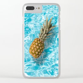 PINEAPPLE & POOL Clear iPhone Case