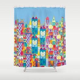 It's A Small World - Theme Park Inspired Shower Curtain