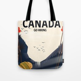 Canada - Go Hiking travel poster. Tote Bag