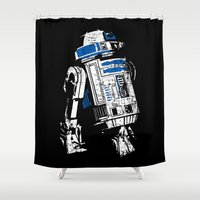 r2d2 Shower Curtains featuring R2D2 by getzair