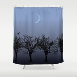 4 Trees Shower Curtain