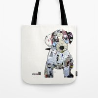 jack russell Tote Bags featuring jack Russell (dogs  by bri.buckley
