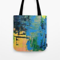 miami Tote Bags featuring Miami by Mande Gaffney