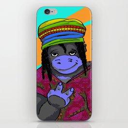 Gorrila Hippie iPhone Skin
