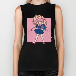 Salty Magical Girl Biker Tank