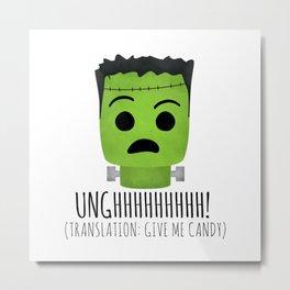 Frankenstein Wants Candy Metal Print