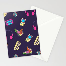 pc games pattern Stationery Cards