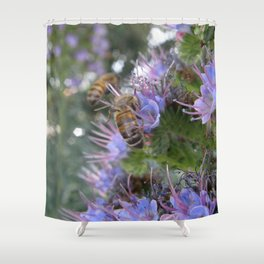 Bees on Buddleia Shower Curtain