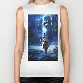 major starry night Biker Tank