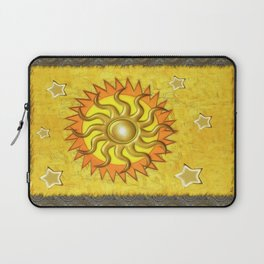 Celestial Whimsey Folk Art Laptop Sleeve