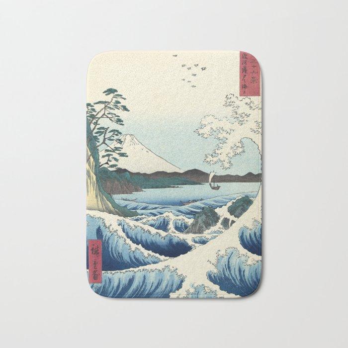 Utagawa Hiroshige - Seascape in Satta, 1858 Bath Mat