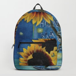 Lightning Bugs and Sunflowers Backpack