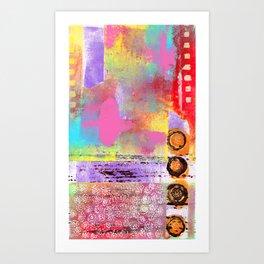 Mixed Media Abstract Art Print
