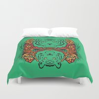 tigers Duvet Covers featuring Tigers by Ornaart