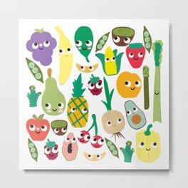 Fruit And Veggie Madness Metal Print