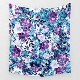 RPE FLORAL BLUE Wall Tapestry