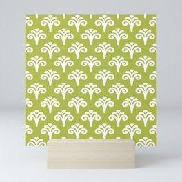 Floral Pattern Chartreuse 243 Mini Art Print