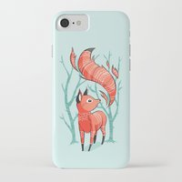 nursery iPhone & iPod Cases featuring Winter Fox by Freeminds