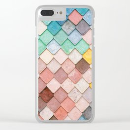Bricks Full of Color Clear iPhone Case