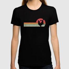Seal Print. Retro Style Graphic T-shirt