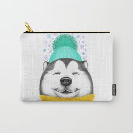 Winter Husky Carry-All Pouch