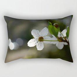 Facing The Light Rectangular Pillow