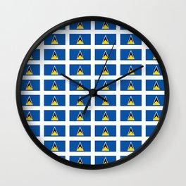 Sainte lucieFlag of Saint Lucia-Saint Lucia,Sainte Lucie,Saint Lucian,Lucien,Castries. Wall Clock