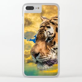 Free Tiger Clear iPhone Case
