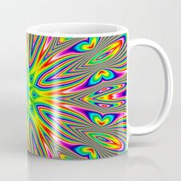 Psychedelic Rainbow Kaleidoscope Coffee Mug