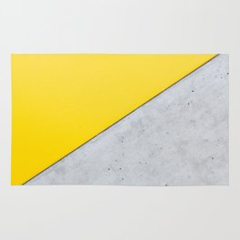 Yellow & Gray Abstract Background Rug