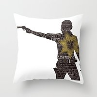rick grimes Throw Pillows featuring Rick Grimes with Quotes by rlc82