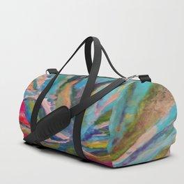 TROPICAL TURQUOISE BLUE AGAVE CACTI FUCHSIA  PATTERN Duffle Bag