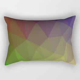 Multi Colored Triangle Pattern Rectangular Pillow