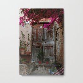Wooden door, Elba Italy - Photography  Metal Print