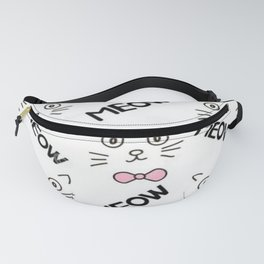 Cat Meow Meow Fanny Pack