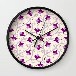 Fuchsias in Pink Wall Clock