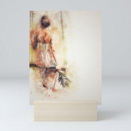 Long Dress Mini Art Print