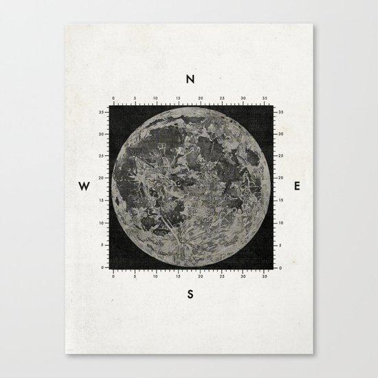 Moon Scale Canvas Print
