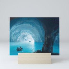 The Blue Grotto, Capri, Italy by landscape painting Gioacchino La Pira Mini Art Print