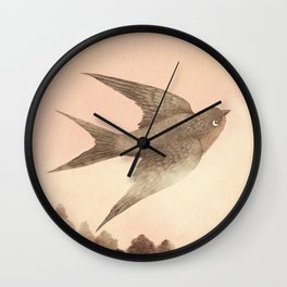 Sunset Swallow Wall Clock