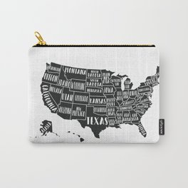 USA Map Carry-All Pouch