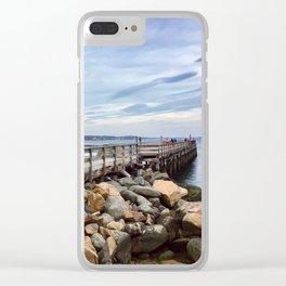 Salem Willows Boardwalk Clear iPhone Case