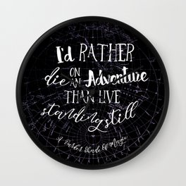 Lila Bard - Die On An Adventure Wall Clock