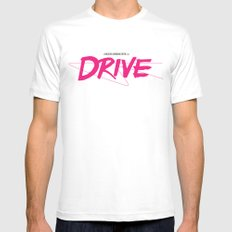 Drive (Classic) MEDIUM White Mens Fitted Tee