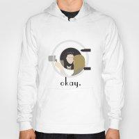 okay Hoodies featuring Okay. by Zharaoh